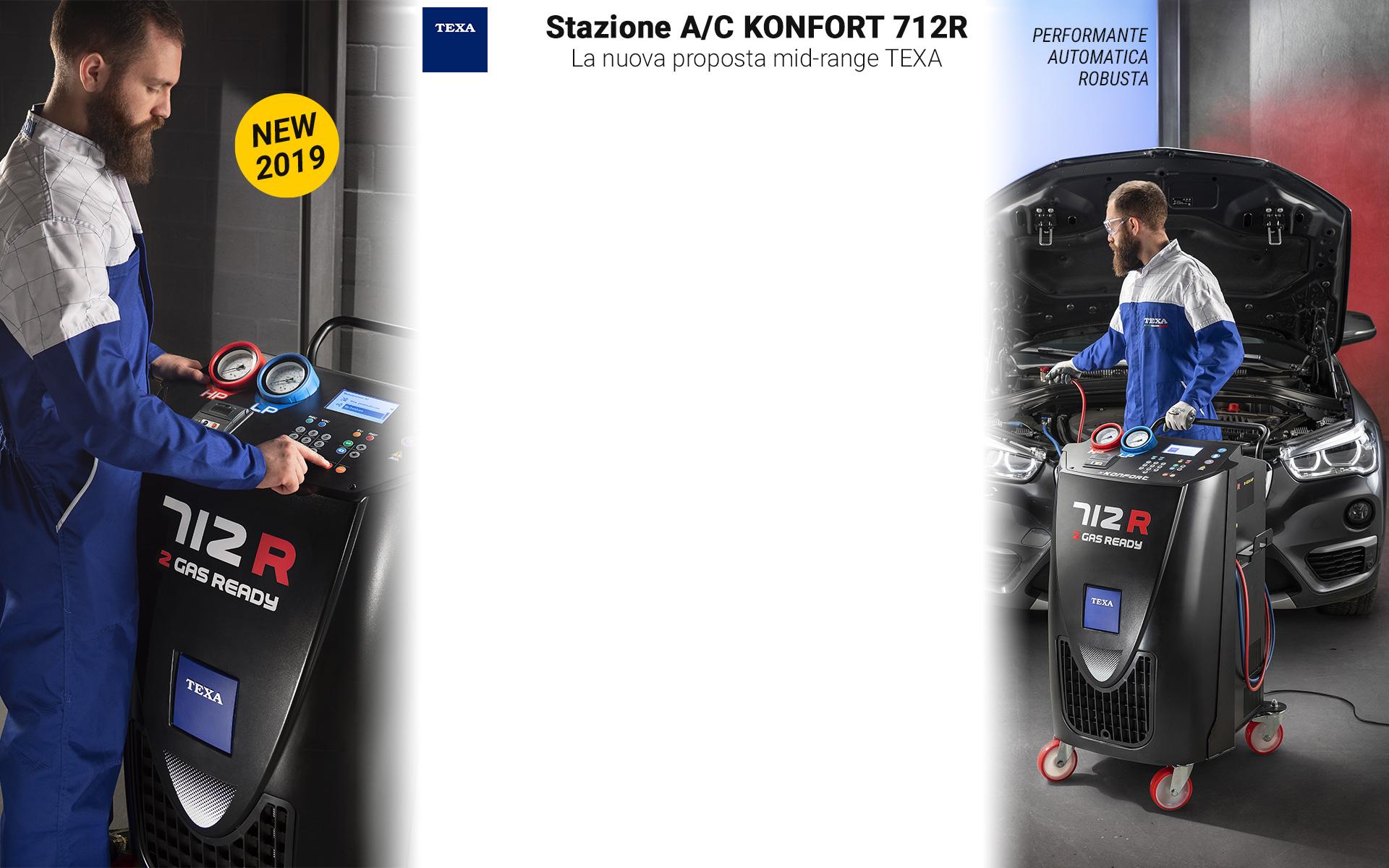 Nuovo Stazione Aria Condizionata TEXA Konfort 712R
