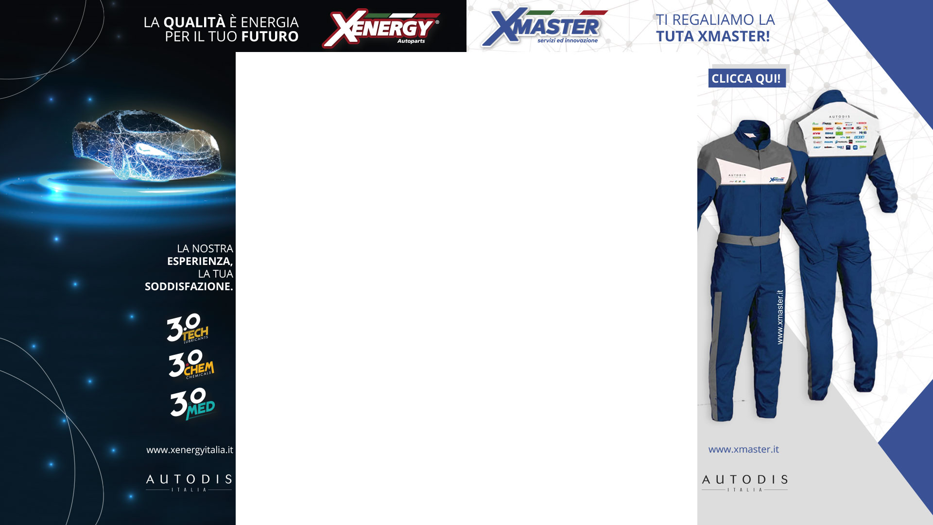 Skin Banner Xmaster e XEnergy Autodis Italia